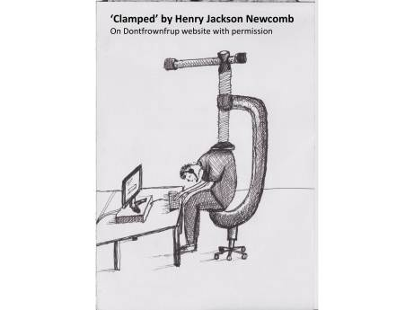 Clamped at work by Henry Jackson Newcomb